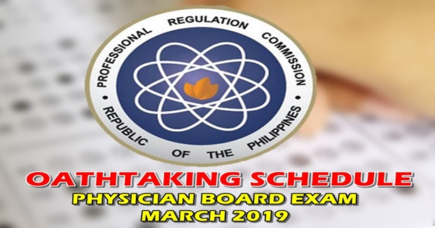 Oathtaking Physician Board Exam March 2019
