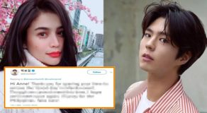 Park Bo Gum Message To Anne Curtis, Netizens React