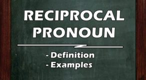 RECIPROCAL PRONOUN: Definition of Reciprocal Pronoun & Its Examples