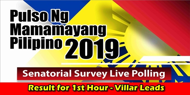 Senatorial Survey Live Polling Result 1st Hour