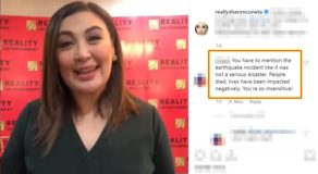 Sharon Cuneta Insensitive Post With Earthquake Criticized, Megastar Speaks