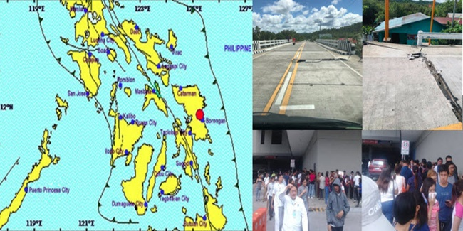 Visayas earthquake photos