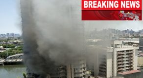 Fire Broke Out At Residential Building of Gotesco Tower, Manila