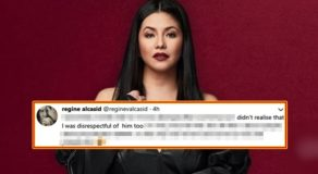 "Regine Velasquez On Controversial Tweet: ""I was disrespectful of him too"""