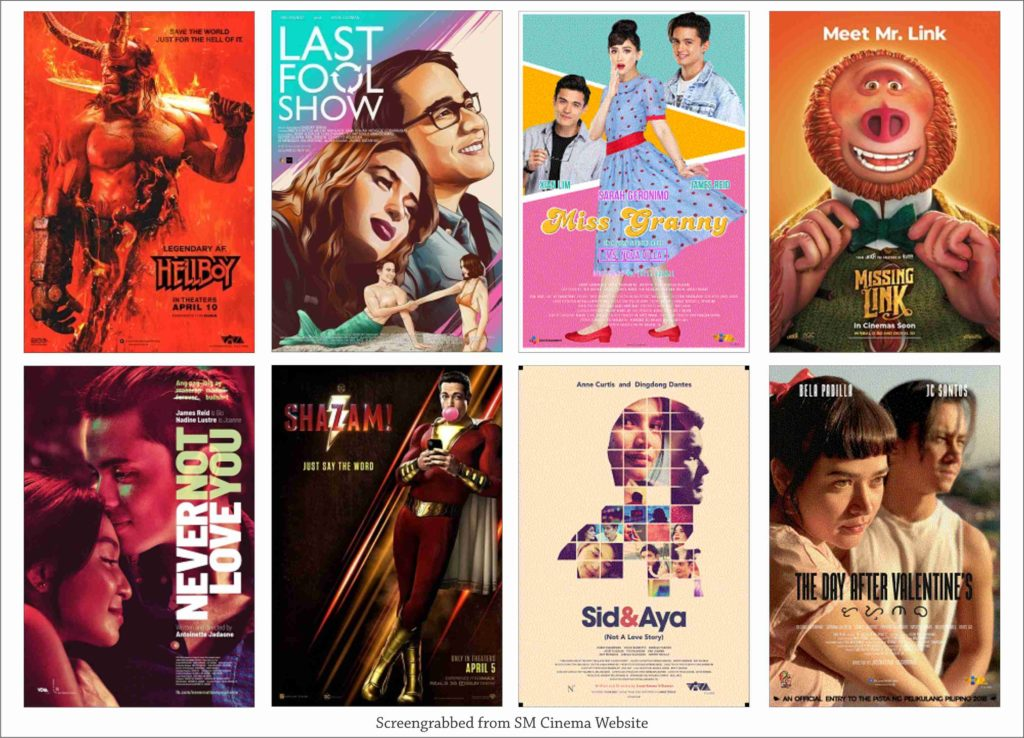 SM Cinema Showing Movies Today April 20, 2019