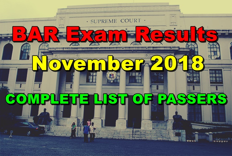 BAR Exam Result
