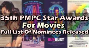 35th PMPC Star Awards For Movies Full List Of Nominees Released