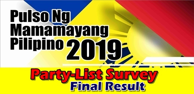 Awake Tops Pulso Party-List Survey Final Result