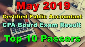 CPA Board Exam Result May 2019 – TOP 10 PASSERS