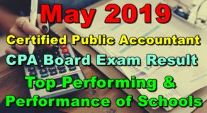 CPA Board Exam Result May 2019 – Top Performing & Performance of Schools