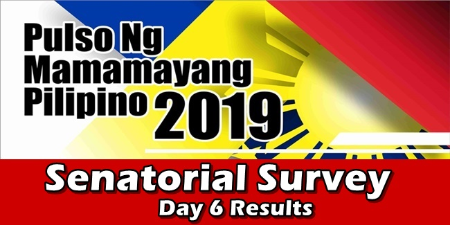 Chel Diokno Tops Senatorial Survey Day 6 Results