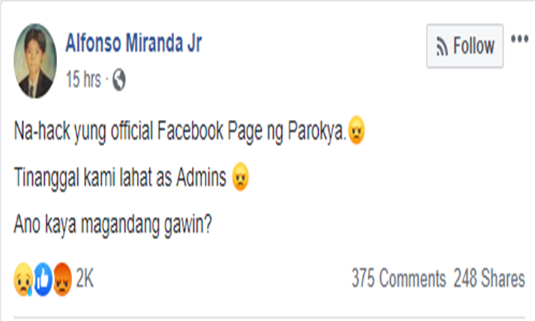 Parokya Ni Edgar FB Page 'Hacked,' Malicious Videos Shared