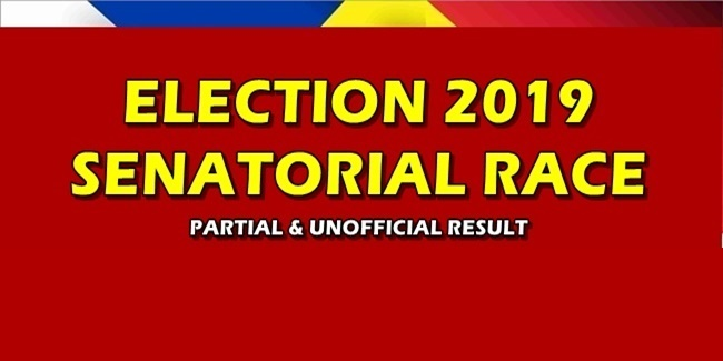 Election 2019 Senatorial Race Partial & Unofficial Results
