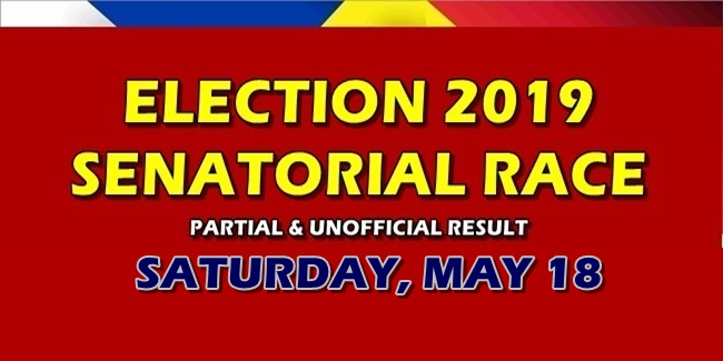 Election 2019 Partial Unofficial Result Senatorial Race mAY 18