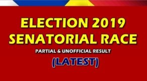 Latest Election 2019 Senatorial Race Partial & Unofficial Result (May 18)