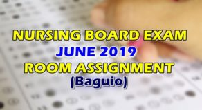 Nursing Board Exam June 2019 Room Assignment (Baguio)