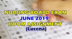 Nursing Board Exam June 2019 Room Assignment (Lucena)