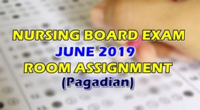 Nursing Board Exam June 2019 Room Assignment (Pagadian)