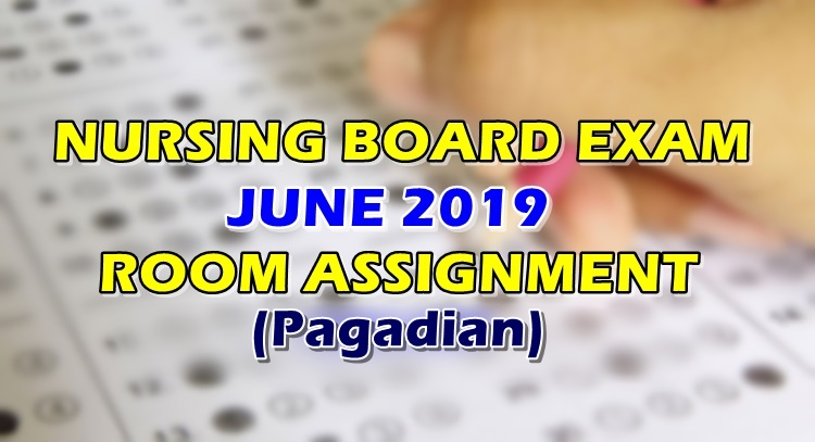 Nursing Board Exam June 2019 Room Assignment