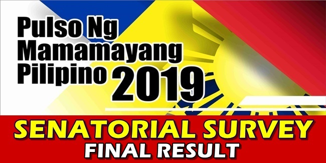 Pulso Senatorial Survey Live Final Result
