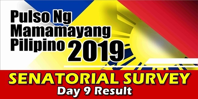 Pulso Senatorial Survey Live Polling Result day 9