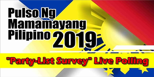 Pulso ng Mamamayang Pilipino 2019 Party-List Survey Live Polling
