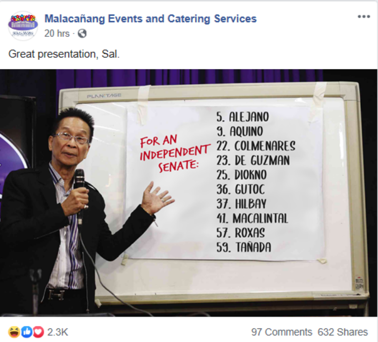 Panelo Criticized Political Satire Facebook Meme