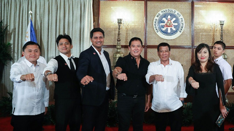 duterte with celebs john lloyd cruz