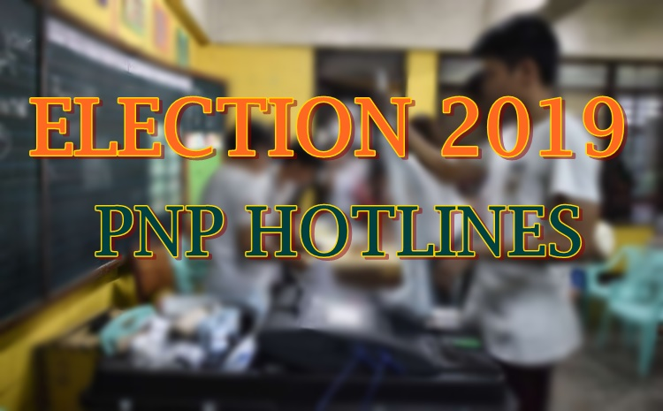 election 2019 pnp hotlines