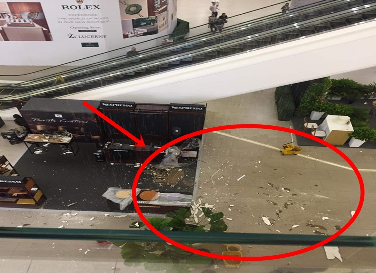 Portion of Mall Escalator in Ortigas Suddenly Collapse Due