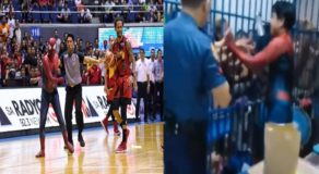 Filipino Spiderman Who Disrupted PBA Game Gives Pizza To Inmates