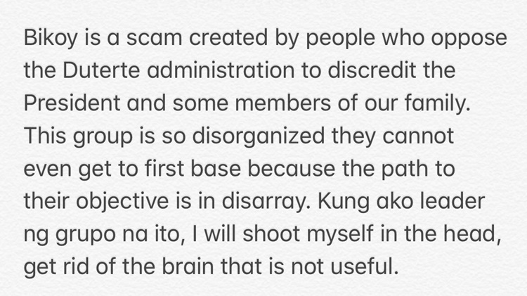 sara duterte statement
