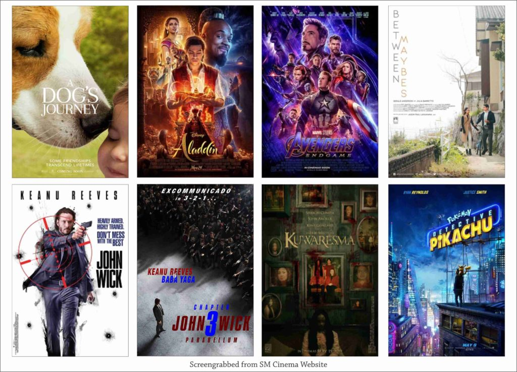 SM CINEMA: List Of Movies Showing Today May 22, 2019