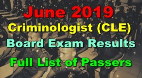 Criminologist Board Exam Results June 2019 – CLE Full List of Passers