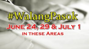 #WalangPasok: Malacañang Declares June 24, 29 & July 1 As Holiday In These Areas