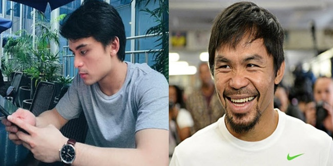Manny Pacquaio and jimuel Pacquiao 1