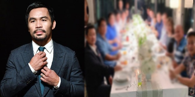 Manny Pacquio host dinner party 1
