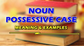 NOUN POSSESSIVE CASE – Meaning & Examples of Nouns in Possessive Case