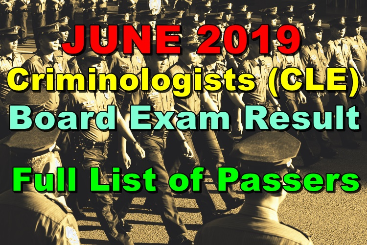 Criminologists CLE Board Exam Result