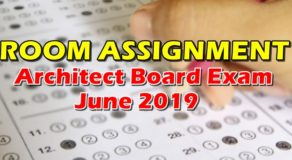 Room Assignment Architect Board Exam June 2019 (Full-List)