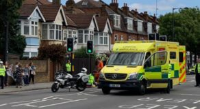 Old Woman Hit By A Police Motorbike During Prince William's Motorcade
