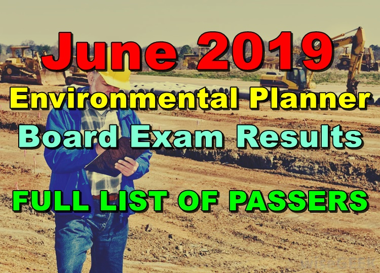 Environmental Planner Board Exam Result