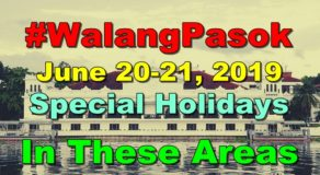 #WalangPasok: Palace Declares June 20-21 As Special Holidays In These Areas