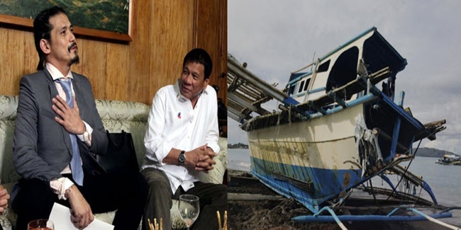 robin padilla & duterte on chinese ship