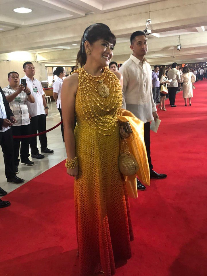 Imee Marcos in Mak Tumang gown