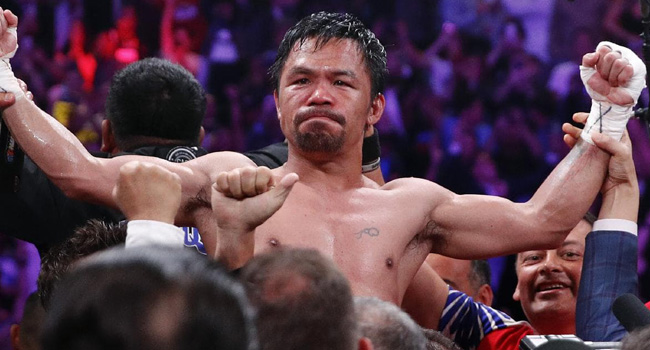 MANNY PACQUIAO'S VICTORY