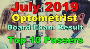 Optometrist Board Exam Result July 2019 – Top 10 Passers