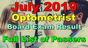 Optometrist Board Exam Result July 2019 – Full List of Passers