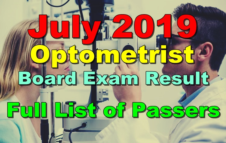 Optometrist Board Exam Result