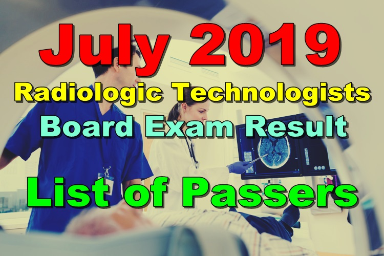 Radiologic Technologists Board Exam Result